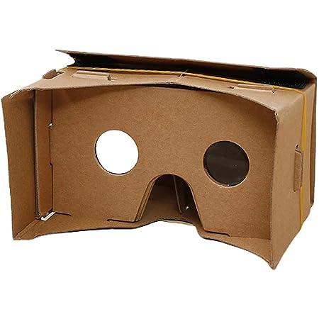 オーディオファン VRゴーグル カードボード 3.5-6.0インチのスマホでご利用いただけます 組み立て式