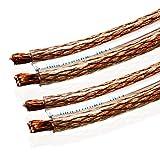 Van Damme 2 x 6.00mm Audio Cable de altavoz de interconexión doble (Definición Total Hi-Fi Direccional) / 25M