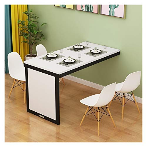 WZLL Wall-mounted Drop-leaf Table, Folding Invisible Workbench, Adjustable Home Dining Table Computer Desk, For Small Space (Color : White, Size : 90 * 60cm)