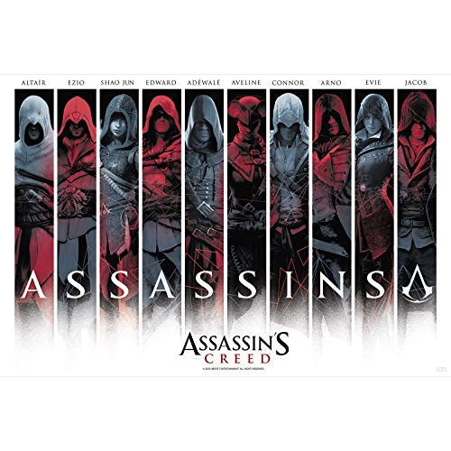"ABYstyle - ASSASSIN'S CREED - Poster ""Assassins"" roulé filmé (91.5x61cm)"