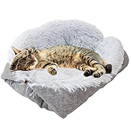 shuxuanltd Calming Dog Bed Puppy Bed Bed For Cat Plush Dog Bed Dog Bed Fluffy Cat Bed Pet Beds For Cats Dog Comfort Bed Dog Cushion Kitten Bed Cat Cave Small Cat Bed