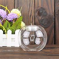 ローソク足飾 ホーム装飾装飾ホーム結婚式室配置ガラスラウンドローソク足 りロマンチックキャンドル (Color : Multi-colored, Size : 10cm)