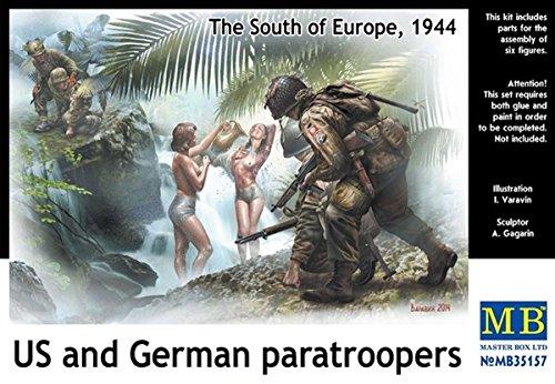 Master Box MB35157 - 1/35 US und German Paras, Südeuropa