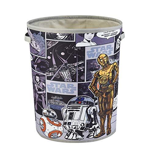 Idea Nuova Star Wars Circular Storage Bin with Handles, Multi