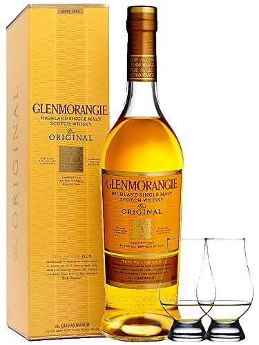 Glenmorangie 10 Jahre The Original Single Malt Whisky 0,7 Liter + 2 Glencairn Gläser