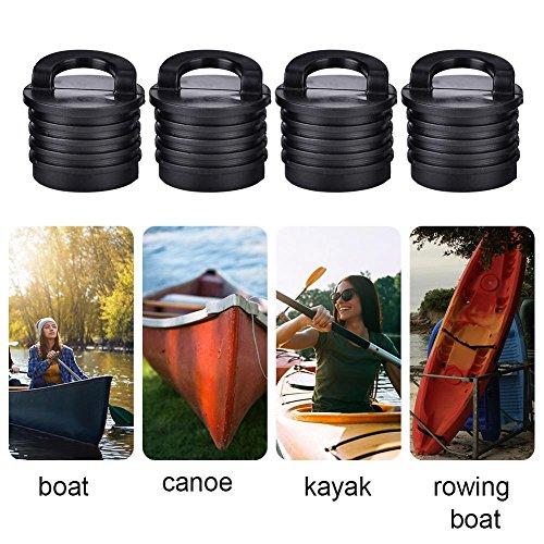 Tapón de Kayak,4 Piezas Tapón de Drenaje de Canoa del Barco de Kayak Universal Scupper tapón Bungs Tapones de Drenaje Tapones Reemplazo