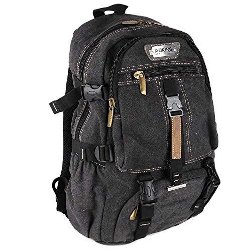 AOKING Rucksack Reisen Rucksack Männer Herren and Damen Schulrucksack Taschen Backpack schwarz