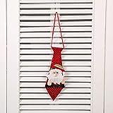 fixiyue Kragen Weihnachtsdekorationen rot Pailletten Krawatte Erwachsene Kinder Schule Kleid kreatives Geschenk Alte Menschen (12 Stück)