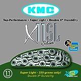 KMC Chain X-11-SL Cadena Estrecha, Unisex Adulto, Plata, 114 eslabones...