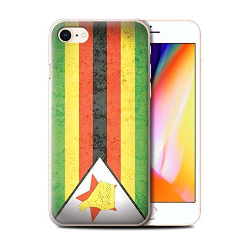 Telefoonhoesje voor Apple iPhone SE 2020 Afrikaanse Vlag Zimbabwe/Zimbabwean Ontwerp Transparant Helder Ultra Slim Dun Hard Back Cover