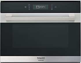 Hotpoint MP 776 IX HA Integrado - Microondas (Integrado, Microondas combinado, 40 L, 900 W, Tocar, Negro, Acero inoxidable)