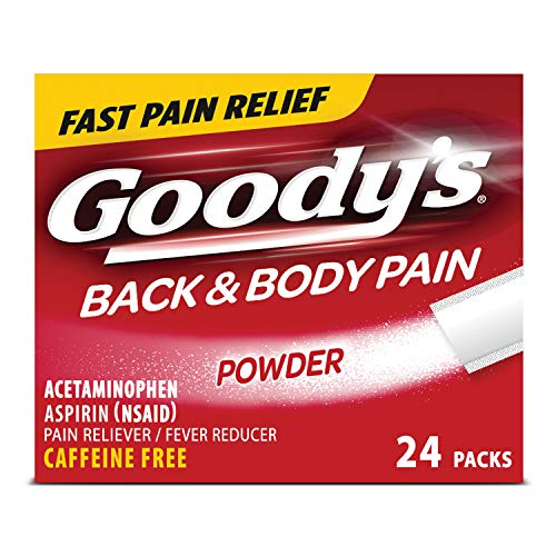 Goody's Back & Body Pain Relief Powders   Caffeine Free   24 Count