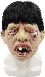 ZJMIYJ Halloween-mask, terrorble halloween full huvudmask latex skrämmande tandkräm en ögonig person mask skräck maskerad ...