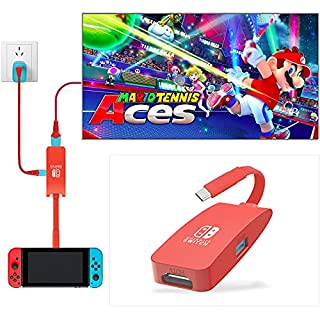 Switch Dock, USB C Hub Adapter, 4K@60Hz HDMI Switch Docking Station Portable TV Dock for Nintendo Switch Charging Dock, Type C to HDMI TV Adapter for Nintendo Switch MacBook Pro Air Samsung DEX-Red (B097P2PGMY) | Amazon price tracker / tracking, Amazon price history charts, Amazon price watches, Amazon price drop alerts