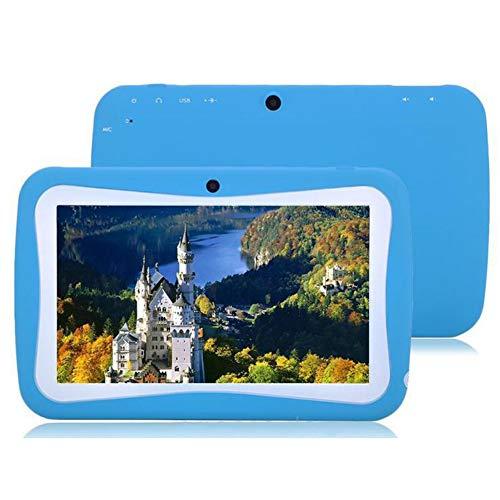 WANGOFUN Kindertablet mit 7-Zoll-HD-Display Quad Core Kindertablet 1 GB RAM 8 GB ROM mit WiFi-Dual-Kamera Pädagogischer Touchscreen Kindermodus Kindersicherung,Blue