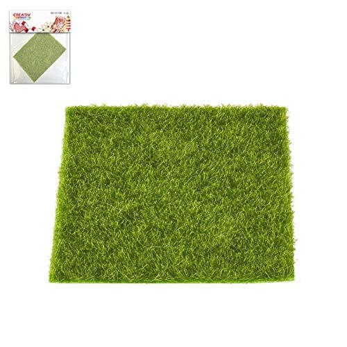 CREATIV DISCOUNT Deko Gras-Matte, grün, ca.14x14cm