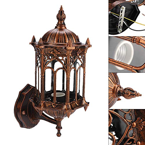 Wandlamp, Buiten Wandlamp Lantaarn Antieke Tuin Wandlamp Buiten Tuin Lantaarn Landschap Veranda Blaker Lamp AC 110-240V