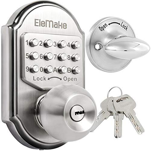 Keyless Entry Keypad Deadbolt Door Lock 304 Stainless Steel 100% Mechanical - No Risk of Low Power