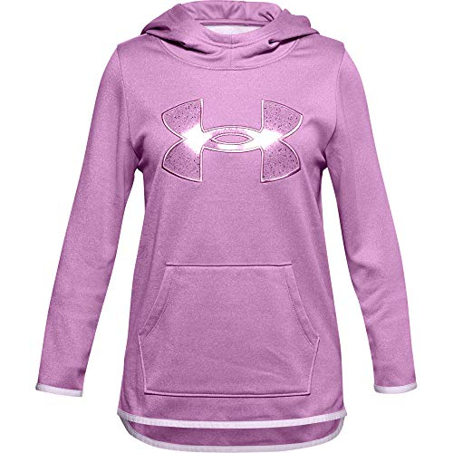 Under Armour Girls' Armour Fleece Graphic Hoodie , Polar Purple (537)/Crystal Lilac , Youth Large