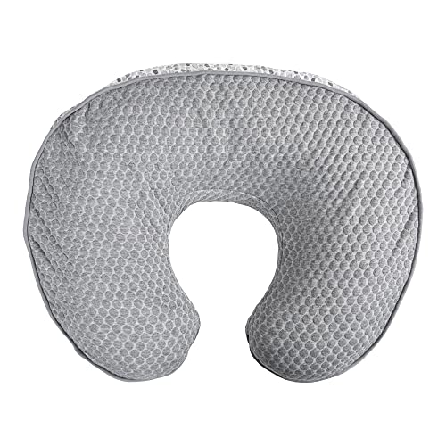 Boppy Nursing Pillow and Positioner—Luxe   Gray Watercolor Brushstrokes Pennydot   Breastfeeding, Bottle Feeding and Baby Support   With Removable Cover in Premium Fabric   Awake-Time Support