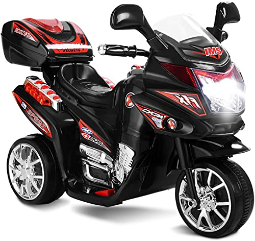 COSTWAY Kids Electric Motorbike, 6V Battery Powered Ride on Motorcycle with...