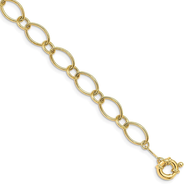 Beautiful Yellow gold 14K Yellowgold 14k Oval & Circles Design Bracelet