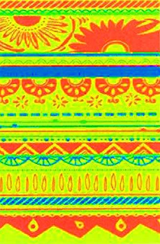 Betz XXL Strandlaken Wickelkleid Pareo Strandkleid Strandtuch Bohemian Motiv Größe: 90x180cm Farbe: gelb/orange