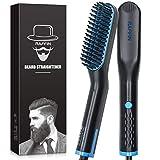 Beard Straightener for Men, Heated Hair Beard Straightener for Short Beard Brush for Men Gifts Beard Straightening Comb Hair Brush Gifts for Men