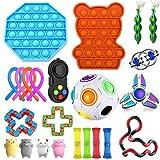 2021 Fidget-Spielzeug-Set, Stressabbau, Blasen/Marmorgeflecht, für ADHS, 23 Stück - Fidget Toy...