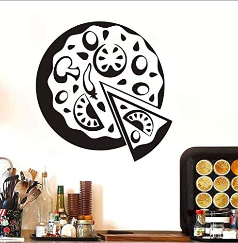 Gsdxz Selbstklebende Diy Wasserdichte Gemüse Pizza Aufkleber Wandaufkleber Hintergrund Dekorative Laden Küche Fenster Wandbild 40X60 Cm
