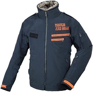 ラフアンドロード(ROUGH&ROAD) ジャケット フライトジャケット ブラック/オレンジ L RR7683