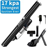 Portable Hand Vacuum, 17kPa Strongest Suction, Car Hand Held Vacuum, Cordless Hand Vacuum, Fast Charging, Lightweight, One-Release Dust Cup, Rechargeable Vacuum Cleaner for Home &Car Cleaning, Black