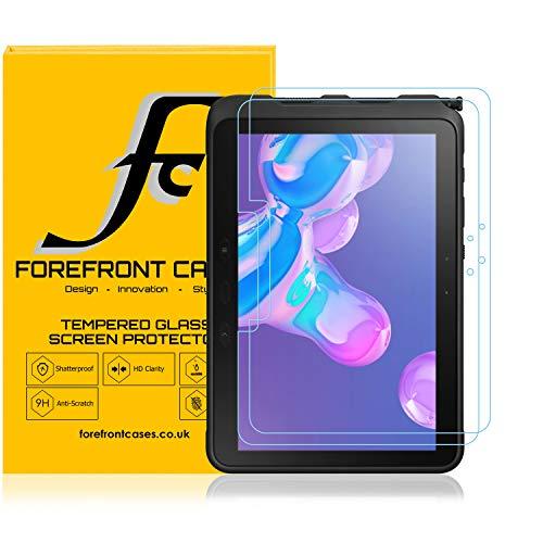 Forefront Cases Protector de Pantalla para Samsung Galaxy Tab Active Pro, Cristal Templado - 2 Unidad - Galaxy Tab Active Pro 10.1 Protector de Pantalla - Resistente a los Arañazos, Claridad HD