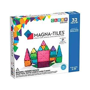 Magna-Tiles Magnetic Building Toys, Clear Colors Set, Multi Color (32 Pieces) 8 51hSEM2cZ0L. SS300