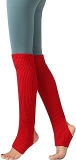 5b8d20baa6800 CHUNG Women Girls Knitted Stirrup 80s Leg Warmers Ballet Dance Yoga Sport Knee  High Long Socks