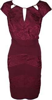 Sangria Women's Plus Size Dress with Cut Outs