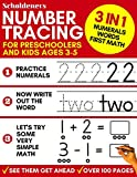 Number Tracing for Preschoolers and Kids Ages 3-5: 3-In-1 Book to Master Numerals, Words and First Math (Trace Numbers Practice Workbook for Pre K, K)