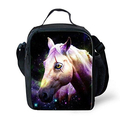 showudesigns Neopren-Lunchtasche Isolierung Kinder Erwachsene Lunchbox für Arbeit Schule Picknick S Horse 2