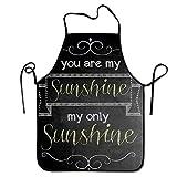 Not Applicable Delantal de Cocina Unisex sin Bolsillos, Correas de Cintura Ajustables para cocinarg, elaboración, Barbacoa: Eres mi Sol