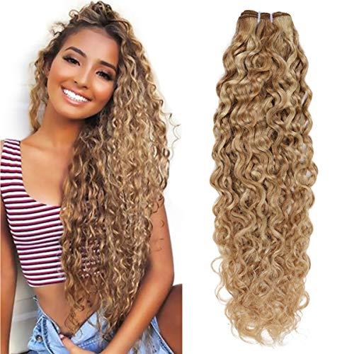 "FASHION LINE Brazilian P27/613 Water Wave Blonde Human Hair Extensions Unprocessed Human Hair Bundles Weft 1PC 100g(18"")"
