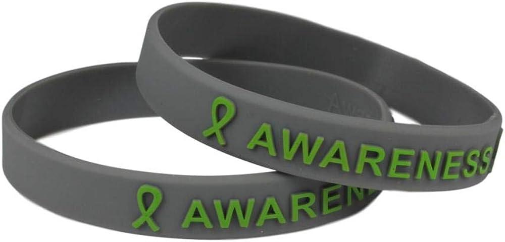 Mental Ranking TOP2 Health Awareness Silicone Bracelet 1 year warranty