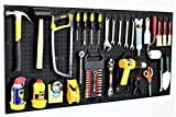 WallPeg 48' Wide Pegboard Kit with 2 Panels & 25 Locking Peg Board Hooks and Panel Set - Tool Parts and Craft Organizer