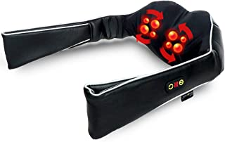 Neck & Shoulder Massager with Heat | Kneading Shiatsu Massage with Handles | Convenient Carry Handle for Portability | Black