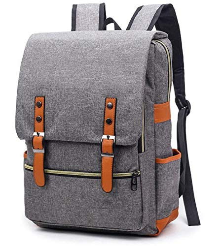 Upgrade Retro Laptop Backpack for Unisex, College Fashion Backpack, Backpack for 15 inch Laptop (Gray)