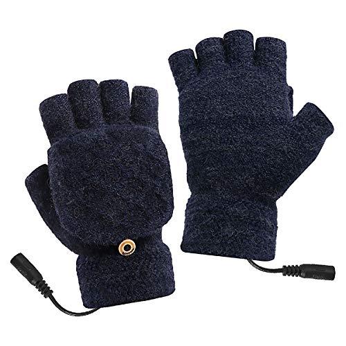 iFCOW Guantes calentados por USB, unisex, para hombres y mujeres, de invierno,...