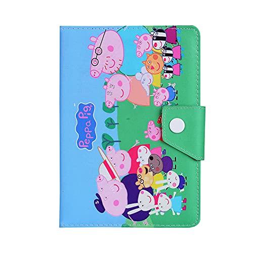 Funda para iPad de 8ª generación 2020 / iPad de 7ª generación 10.2 pulgadas 2019 ~ Cubierta protectora plegable de pie ~ Cubierta para niños para iPad de 10.2 pulgadas (Peppa Pig Family)