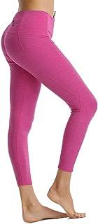 Rocorose Women Yoga Pants High Rise with Hidden Pocket Running Exercise Legging