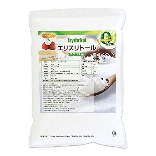フランス産 エリスリトール 4kg 遺伝子組み換え材料不使用 カロリーゼロ 希少糖 糖質制限 天然甘味料 砂糖代替甘味料 NICHIGA(ニチガ)