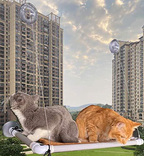 Cama para gato, asiento de ventana y percha para gatos grandes