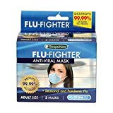 RespoKare Flu-Fighter Flu Mask - Anti-Viral Face Cover Protection - Cold, Virus,...